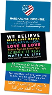 3 Pack of Posters/Protest Signs - 2 Sided - Display Your Support for Love & Diversity W/a Poster Sign & Get 2 Free, We Believe - Hate Has No Home Here - Welcome Your Neighbors, by Signs of Justice