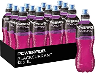 Powerade Isotonic Blackcurrant Sports Drink Sipper Cap, 12 x 1 l