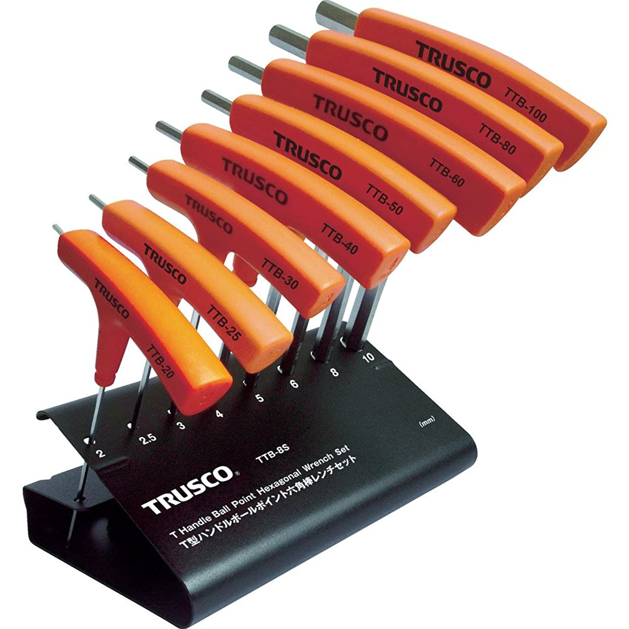 昼食広告主杖TRUSCO(トラスコ) T型ハンドルボールポイント六角棒レンチセット 8本組 TTB-8S