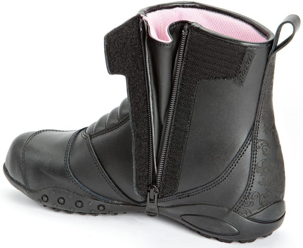 5 Womens Leather Motorcycle Boot Joe Rocket Trixie Black