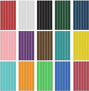 Hot Glue Sticks,15 Colors,Mini Glue Sticks, EVA Glue Mini Size Hot Melt Glue Adhesive Sticks for Glue Gun Mini DIY Art Craft,90pcs, 6pcs Per Color,Diameter 0.28