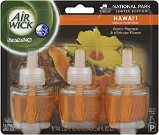 Air Wick Scented Oil 3 Refills, Hawaii, (3X0.67oz), Air Freshener