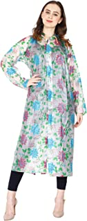 REXBURG Floral Series Women's/Girl Rain Coat/Rain Wear Absolute Comfortable and Made with 100% Water Proof Material.