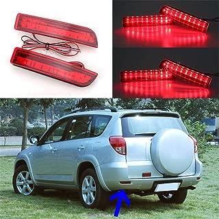 MZORANGE 1 Pair LED Rear Bumper Reflector Light For Toyota RAV4 2006 2007 2008 2009 2010 2011 2012 For Previa/Alphard 2010 2011 2012 Tail Brake Stop Warning Lamp with Bulb