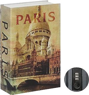 Jssmst Diversion Book Safe with Combination Lock, Secrect Hidden Safe Lock Box Large 2018, Paris, SMBS008P