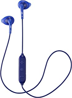 JVC Wireless Sweatproof Gumy Sport Bluetooth Wireless Earbud Nozzle, Blue (HAEN10BTA)