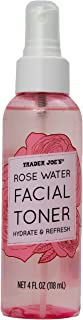 Rose Water Facial Toner Hydrate and Refresh by Trader Joe's (1 Bottle)