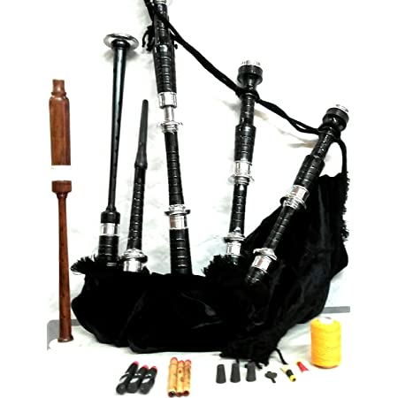 New Great Highland Bagpipes Natural Rosewood Silver Amounts//Full Size Bagpipe//Scottish Bagpipes Hard Case//Dudelsack//Gaita