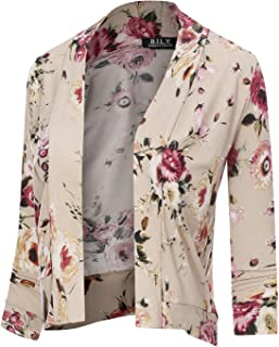 BH B.I.L.Y USA Women's Classic Open Front Cropped Cardigan