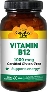 Country Life Vitamin B-12 1000 Mg, 60-Count