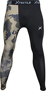 Xtextile Mens Sports Compression Pants, Cool Dry Sports Tight Leggings for Gym, Basketball, Cycling, Yoga, Hiking