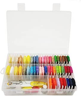 Peirich Embroidery Floss Friendship Bracelet Floss Bracelets String Kit with Organizer Storage Box 54 Colors Crafts Floss with Color Number and Floss Bobbins 38 Pcs Cross Stitch Tools