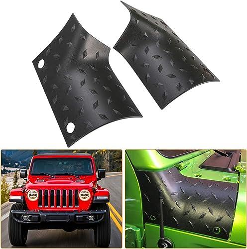 KIWI MASTER Cowl Body Armor Outer Cowl Covers JL Corner Guards for 2018-2021 Jeep Wrangler JL Gladiator JT Sahara Spo...