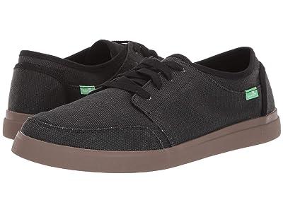 Sanuk Vagabond Lace Sneaker (Black/Gum) Men