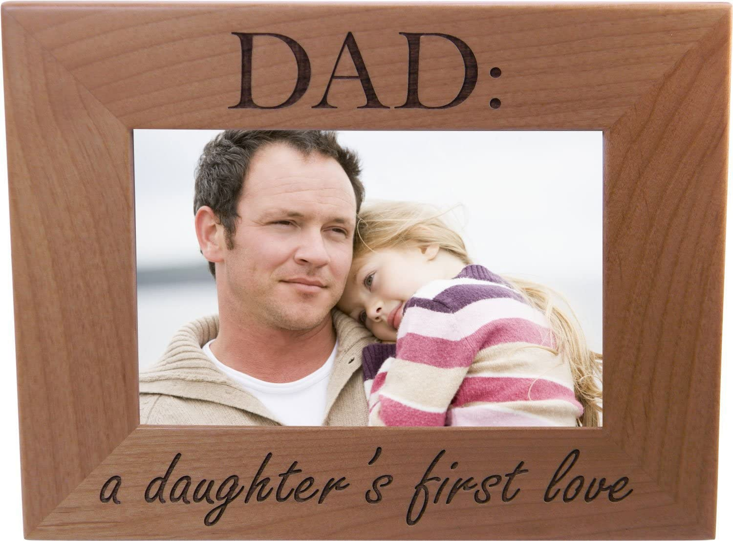 Dad: A Daughter's First Love 4x6 New mail order Genuine Picture Inch Frame Wood - Great