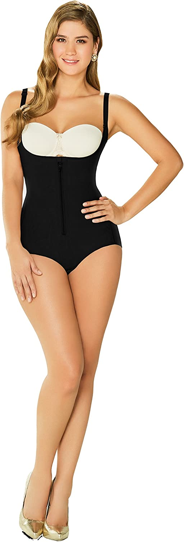 DIANE & GEORDI 2411 Powernet Bodysuit Shapewear for Women with Zipper