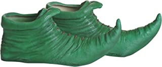 Adult Green Munchkin Shoe Covers Adult Elf Shoe Accessory