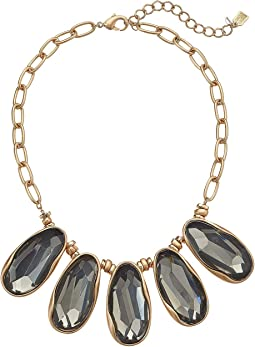 Large Stone Frontal Statement Necklace