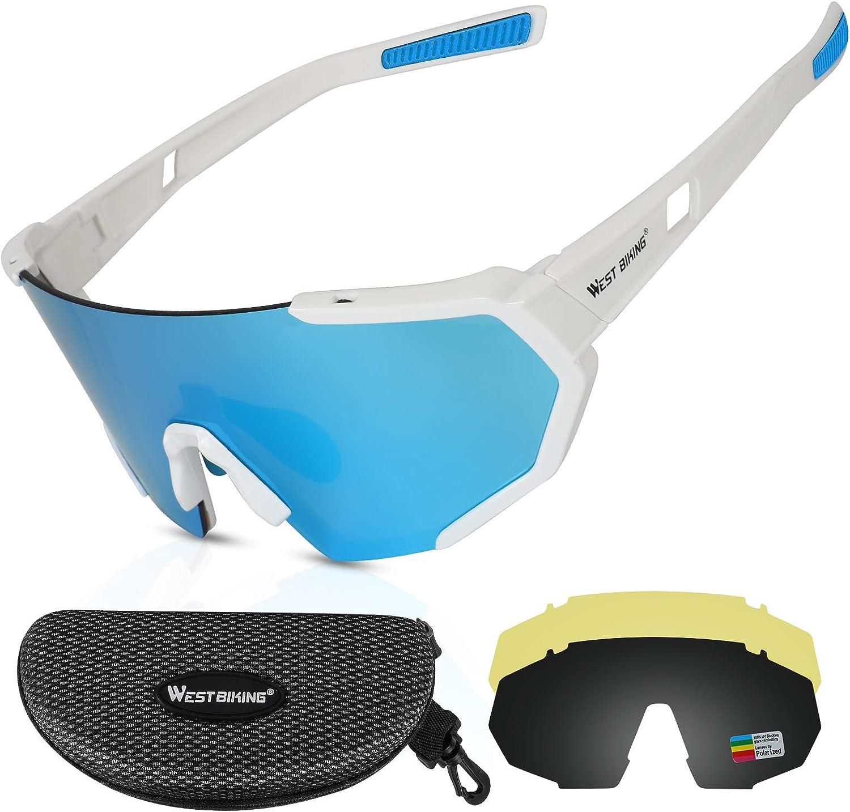ICOCOPRO Gafas deportivas polarizadas UV400, gafas de sol, gafas de sol, almohadilla de nariz ajustable y montura irrompible TR90 para hombre, mujer, ciclismo, motocicleta, golf