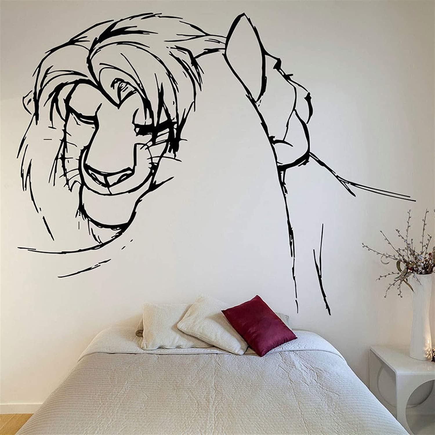 Universal Wall Sticker Mural Finally resale start Decoration excellence Lion Couple Wa King