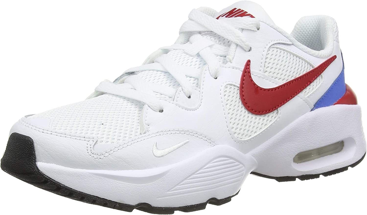 Nike Air Max Fusion Running Shoe, White Gym Red Pacific Blue, 6.5 US Unisex Big Kid