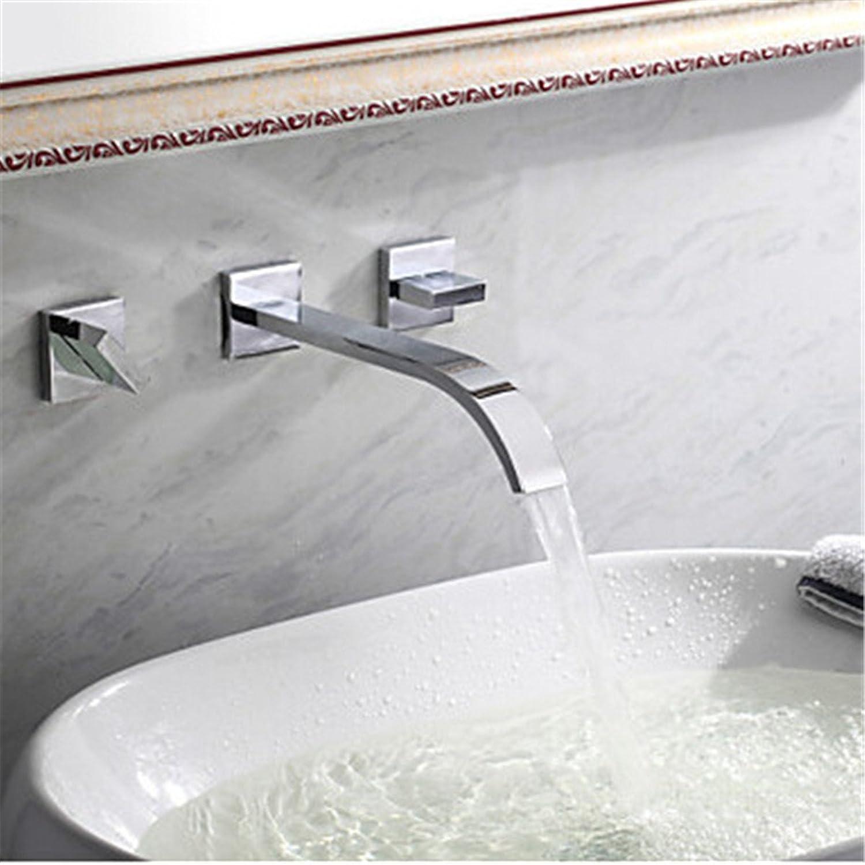 Bijjaladeva Wasserhahn Bad Wasserfall Mischbatterie Waschbecken Armatur für Das Moderne Kupfer Waschbecken und Kalten Wasserhahn im Waschbecken Waschbecken Bad Wasserhhne in der W