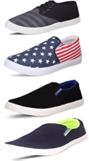 SCATCHITE Pack of 4 Footwear (Sneakers & Casuals Shoes & Loafers & Moccasins)