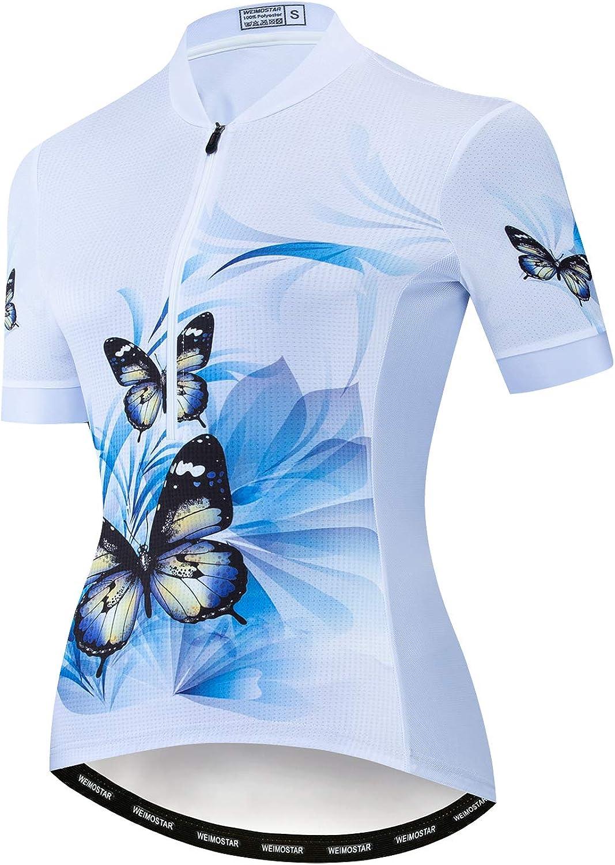 Weimostar Women's Cycling Jersey Short Sleeve Half Zipper Mounta