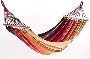 Jobek Orinocco Hamaca, Rayas xingu Rojo, algodón Reciclado, 200x 125cm