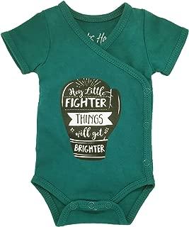 Boys' Preemie Onesie 100% Organic Cotton 'Hey Little Fighter, Things Will.' NICU Nurse Approved