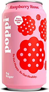 Poppi Raspberry Rose Prebiotic Soda, 12 Fl Oz