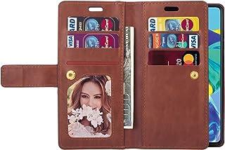 URFEDA Compatibel met Galaxy A50/A30S/A50S Telefoon Case Cover Negen Card Slot Portemonnee PU Lederen Cover met Rits Folio...
