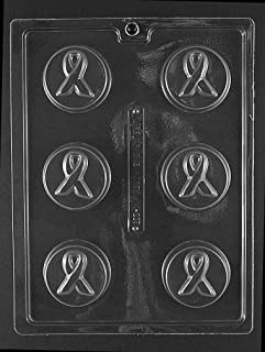 Grandmama's Goodies M225 Awareness Ribbon Cookie Chocolate Candy Soap Mold with Exclusive Molding Instructions