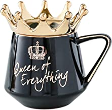 Ceramic Tea Coffee Mug Crown Themed Drinking Cup 10oz Queen of Everything Gift