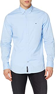 Tommy Hilfiger Core Stretch Slim Poplin Shirt Chemise Casual, Homme
