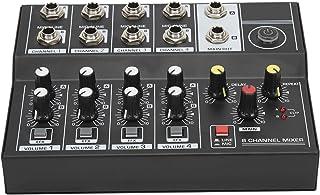 Socobeta Ljudmixer stereo ljud ljudblandare driven bärbar fick-ljudblandare för livestreaming