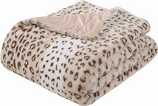 Sedona House Faux Fur Throw Blanket - Super Soft Fuzzy Faux Fur Cozy Warm Fluffy Beautiful Plush Microfiber Throw Blanket, Sand Leopard