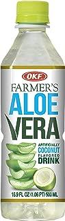 OKF Farmer's Aloe Vera Drink, Coco, 16.9 Fluid Ounce (Pack of 20)