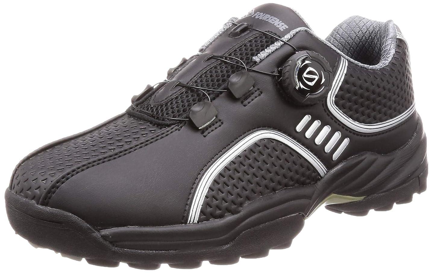 ビーズ財布あいまいさ[フォーセンス] ゴルフ スパイクレス ダイヤルシューズ スポーツシューズ トレッキングシューズ 登山靴 メンズ スピンオン