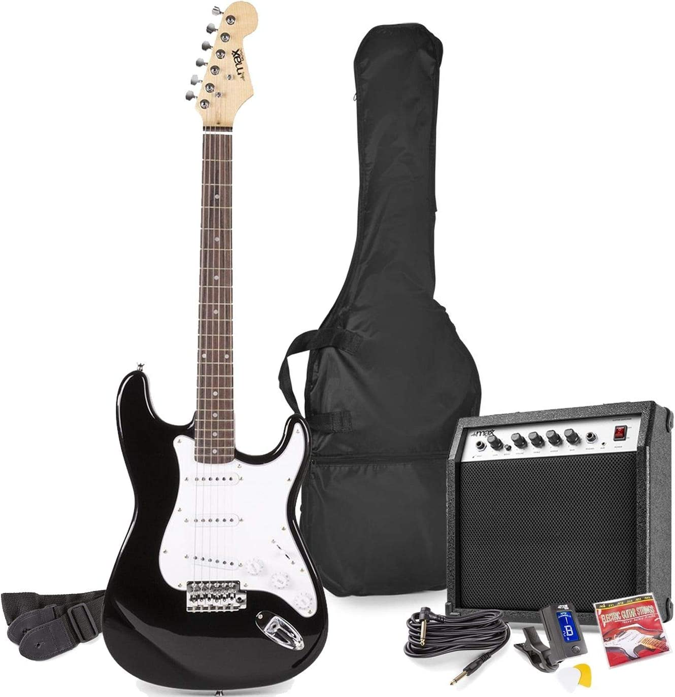 MAX GigKit Conjunto Guitarra Eléctrica (Negro)