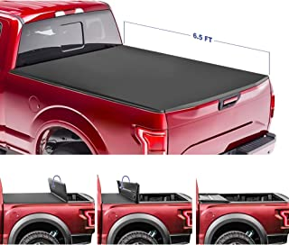 for Models w//o Ram Box On Top 6.5FT Bed 2019 Classic ONLY // 2003-2018 Ram 2500 3500 Fleetside MOSTPLUS Soft Quad FOLD Truck Bed Tonneau Cover for 2002-2019 Dodge Ram 1500