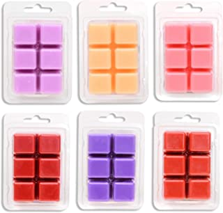 Exquizite Variety Wax Melts Air Freshener - Highly Scented Luxury Wax Cubes Gift Set - 6 Fragrances X 6 Cubes - Smells Great - Lavender, French Vanilla, Rose, Apple Cinnamon, Lilac and Black Cherry