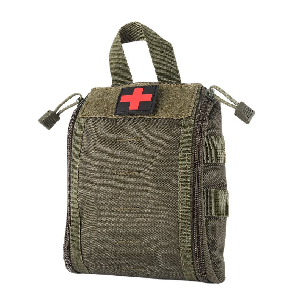 Kosibate/™ TM First Aid Bag Empty Tactical Medical Pouch EMT Emergency Survival Kit Outdoor Travel Molle Rip-Away EMT For IFAK Medical Multipurpose Waist Pack Military Utility kit