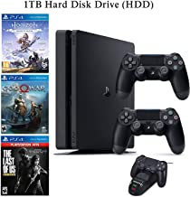 NexiGo 2020 Playstation 4 PS4 1TB Console with Two Dualshock 4 Wireless Controller Holiday...