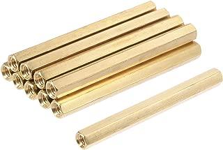 Houseuse M4 x 50mm Female Threaded Brass Hex Standoff Pillar Spacer Nut 10pcs