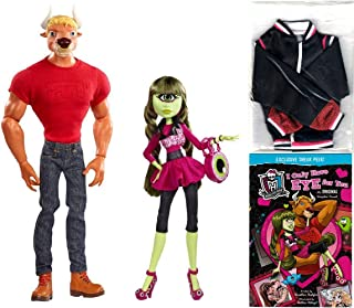 SDCC 2014 Exclusive Monster High Manny Taur & Iris Clops 2-Pack with Bonus Varsity Jacket and Sneak Preview