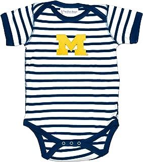 Michigan Wolverines Striped NCAA College Newborn Infant Baby Creeper