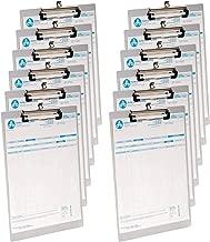 4 PCS Ganci Adesivi Documento pittura calendario modulo di registrazione ZERHOK Clipboard,4 PCS Portablocco A4 Trasparente Portablocco di Plastica Pratico