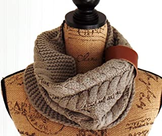 Knit Mocha Snood, Winter Knit Scarf, Uptown Girl Co