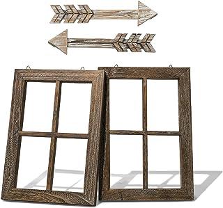 Rustic Wall Decor Wood Window Frames & Arrow Decor – Farmhouse Decoration for..